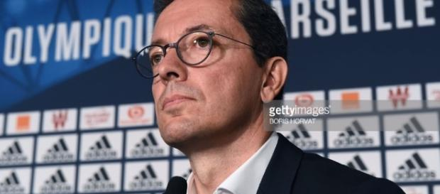 Olympique de Marseille's French president Jacques-Henri Eyraud