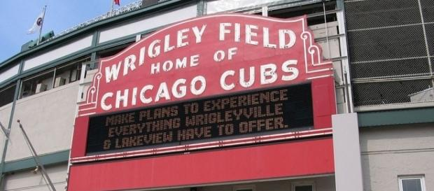 Wrigley Field, home of the Chicago Cubs (Wikimedia/J.Nguyen)