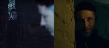 Arya and Littlefinger. Screencap: Davos Seaworth, GameofThrones via YouTube