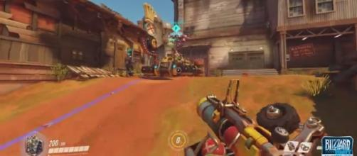 "A screenshot of Junkertown in ""Overwatch.' [Image via YouTube/Unit Lost - Great British Gaming]"