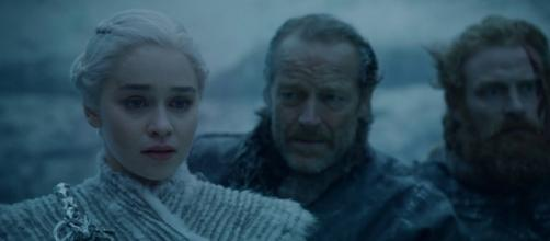 'Game of Thrones': Daenerys (Emilia Clarke) learns the true terror of the White Walkers after losing a dragon. / from 'YouTube' screen grab
