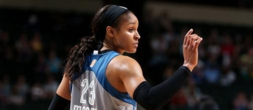 Maya Moore and the Lynx host Diana Taurasi and the Mercury on Tuesday night. [Image via WNBA/YouTube]
