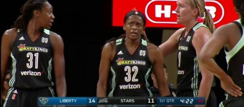 The New York Liberty picked up a big win over Minnesota on Sunday to clinch a WNBAPlayoff spot. [Image via WNBA/YouTube]
