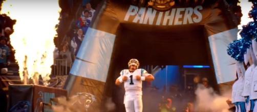 Cam Newton makes his preseason debut against the Jaguars - (Image credit: YouTube/Nflpanthers07media)