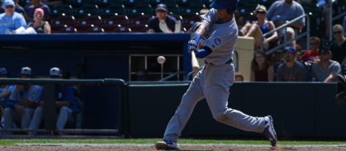 Dodgers top prospect Cody Bellinger hitting a double | Flickr - flickr.com