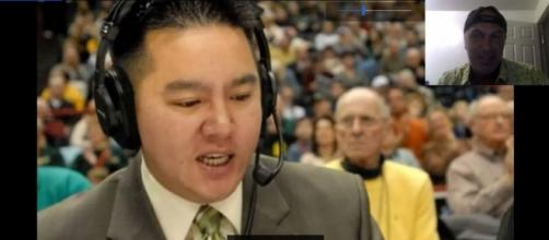 ESPN announcer Robert Lee got re-assigned to a later game due to his name following the Charlottesville incident. / from 'YouTube' screen grab