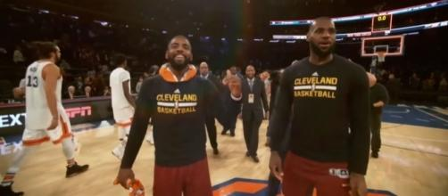 It's parting time for Kyrie Irving and LeBron James (via YouTube - Ximo Pierto Official)