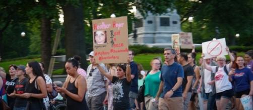 Protest against hate groups, tribute to Heather Heyer / [Image by Ted Eytan via Flickr, CC BY-SA 2.0]