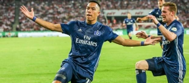 Bobby Wood was among the scorers as Hamburger SV made it two wins from two. (Source: Bundesliga.com)