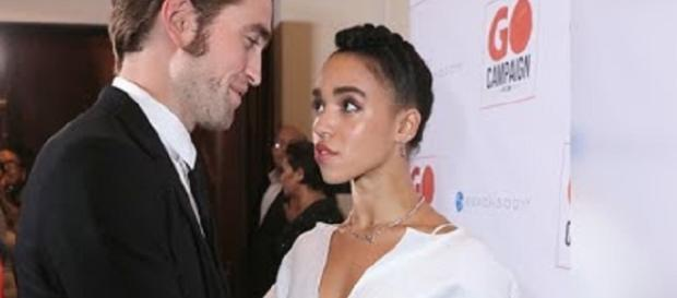 Robert Pattinson, FKA Twigs - Image via YouTube/Hollywood Now