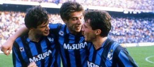 Aldo Serena, Nicola Berti e Lothar Matthaues, protagonisti nell'Inter della stagione 1988/89