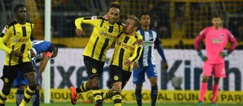 Borussia Dortmund 1 Hertha Berlin 1: Pierre-Emerick Aubameyang ... - thesun.co.uk