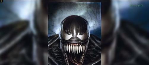 Drawing of Venom in concept art. Credit: YouTube.com @ VariantComics Channel