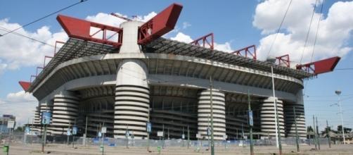 Gli esterni dello stadio 'Giuseppe Meazza' di Milano