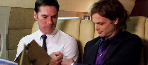 "Hotch and Reid in ""Criminal Minds"" - Image via YouTube/Crimnatic"