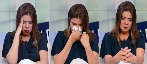 Mara Maravilha chorou no programa ao vivo.