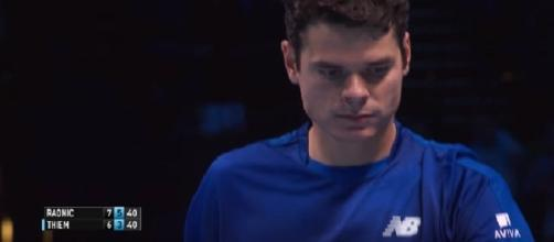 Milos Raonic during the ATP Finals in London back in 2016/ Photo: screenshot via ATPWorld Tour channel on YouTube