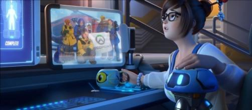 Overwatch 'Rise and Shine' features Mei. [Image via YouTube/PlayOverwatch]