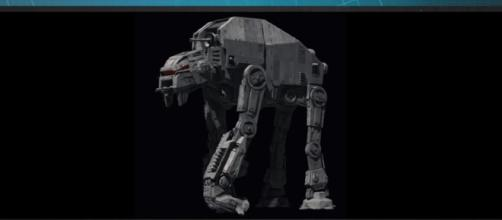 """The new AT-M6 walker from """"The Last Jedi."""" - YouTube/Star Wars"""