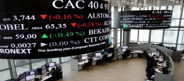 Les valeurs du CAC 40 à la Bourse de Paris