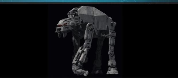 "The new AT-M6 walker from ""The Last Jedi."" - YouTube/Star Wars"