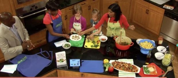 The team wants to inspire parents and children to spend time preparing nutritious meals together. [DocYum via Youtube]