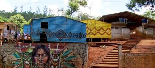 Aldeias indígenas da etnia guarani no Jaraguá região Metropolitana de São Paulo- TV Globo