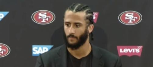 Colin Kaepernick drew little interest from the free-agent market in the offseason -- Fortyniners LakersSpin via YouTube