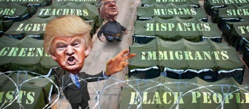 Donald Trump pardons a criminal in Joe Arpaio https://www.flickr.com/photos/donkeyhotey/25956698752