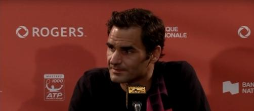 Federer during a press conference at Rogers Cup in Montreal/ Photo: screenshot via ATPWorld Tour channel on YouTube