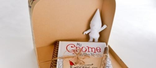 'My Gnome on the Roam' is a kit that comes with a gnome figurine, a storybook, and more. / Photo via Anne Armstrong, used with permission.