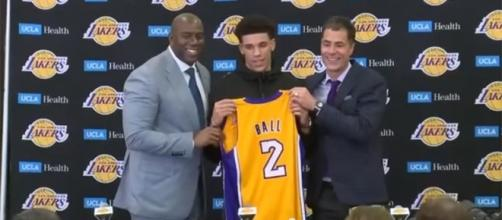 The Los Angeles Lakers welcomes Lonzo Ball (via YouTube - NBA Center)