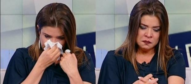 Apresentadora chorou durante o programa de quinta (24)