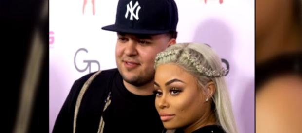 Rob Kardashian and Blac Chyna in a photo when they were still together - YouTube/Entertainment Tonight