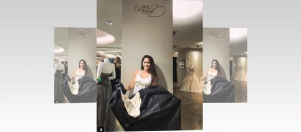 'Teen Mom 2' star Jenelle Evans to wear a beautiful white, full-length lacy wedding dress- TV Show/YouTube screenshot