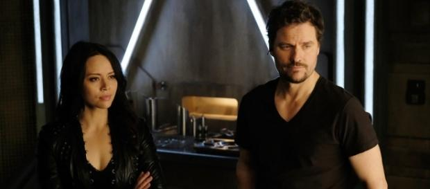 Two (Melissa O'Neill) and Three (Anthony Lemke) in 'Nowhere to Go'/Photo used with permission, 'Dark Matter'/NBC
