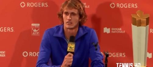Alexander Zverev during a press conference earlier this year in Montreal/ Photo: Tennis TV channel on YouTube
