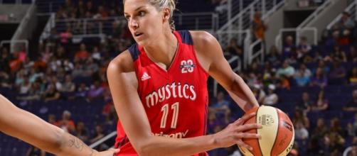 Elena Delle Donne and the Washington Mystics host the Dallas Wings on Saturday night. [Image via WNBA/YouTube]