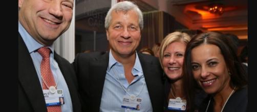 Gary Cohn, president Goldman Sachs; James Dimon, chairman, CEO, JP Morgan; Mary Callahan Erdoes, CEO, JP Morgan | Wikipeadia| Financial Times