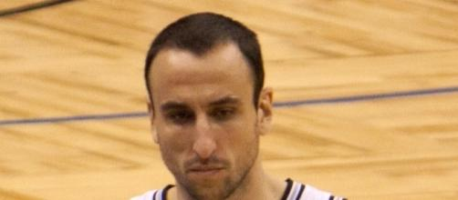 Ginobili in a Spurs uniform   Wikimedia Commons
