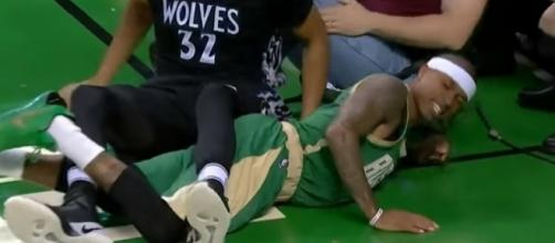 Isaiah Thomas Injury (via YouTube - NBA Highlights)