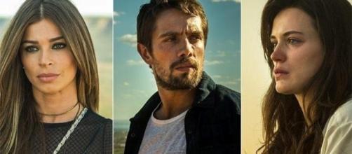 O trio de protagonistas de ''O outro Lado do Paraíso''