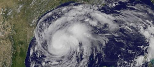 Satellite image of Hurricane Harvey | photo via Wikipedia