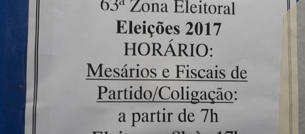 Eleição suplementar para governador e vice do Estado do Amazonas. Foto do próprio autor.