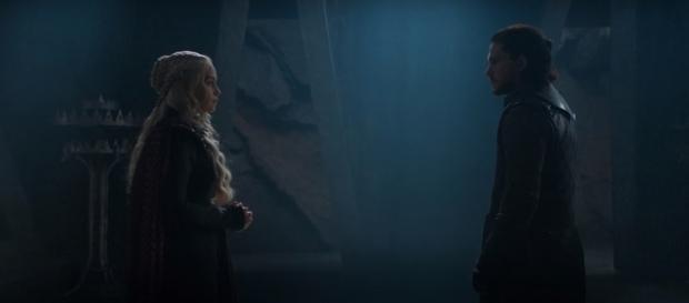 Jon Snow and Daenerys Targayen at Dragonstone- (YouTube/eline)