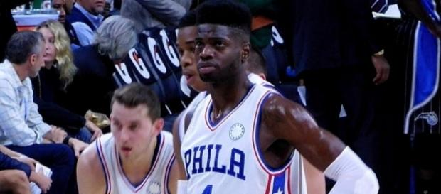 Nerlens Noel with the Philadelphia 76ers in 2015 [Image by Patriarca12 |Wikimedia Commons| Cropped | CC BY-3.0 ]