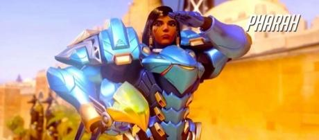 """Pharah is considered as one of the best flankers in """"Overwatch"""" (via YouTube/PlayOverwatch)"""