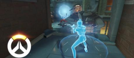 """Tracer has the skill set that allows her to surface right in front of her opponents in """"Overwatch"""" (via YouTube/PlayOverwatch)"""