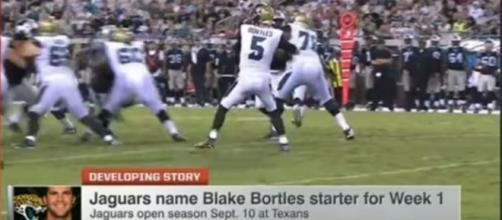 Blake Bortles wins Jacksonville Jaguars starting quarterback job - Photo: YouTube (NFL)