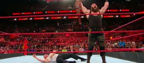 Brock Lesnar was again destroyed by Braun Strowman at Raw Image credits- Youtube/WLive
